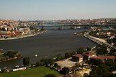 picture of siluet  - View of the Golden Horn from Pierre Loti hill in Istanbul - JPG