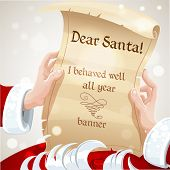 Dear Santa I behaved well all year