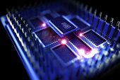 foto of quantum  - Quantum Processor Illustration - JPG