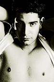 stock photo of adonis  - male high contrast - JPG
