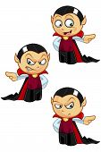 pic of dracula  - Cartoon illustration of Dracula with 3 different facial expressions - JPG
