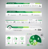 Quality clean web elements for blog and sites. Icons, header, carousel, infographics and a lot of ic