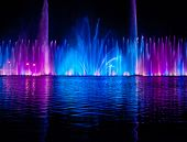 pic of vinnitsa  - Musical fountain with colorful illuminations at night - JPG