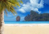stock photo of phi phi  - Tropical beach of Ko Phi Phi Don island - JPG