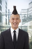 picture of half-shaved hairstyle  - Well - JPG