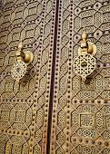Doors Of The Hassan Mosque In Rabat, Morocco