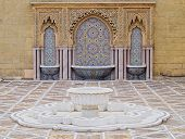 image of mausoleum  - The Mausoleum of a King Mohammed V in Rabat Morocco Africa - JPG