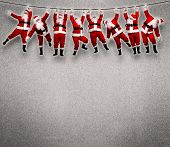 pic of cord  - Christmas Santa hanging on rope - JPG
