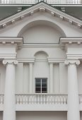 image of ionic  - Triangular pediment with arch portics architraves columns ionic order and gallery - JPG