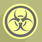 pic of bio-hazard  - minimalistic illustration of a bio hazard icon - JPG