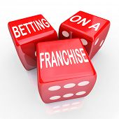 foto of food chain  - Betting On A Franchise Dice Gamble Risk Open New Business Chain - JPG