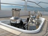 picture of wench  - Motorized maritime mechanical wench for Yacht Anchor - JPG