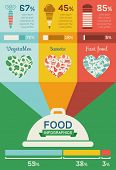 pic of flat-bread  - Food Infographic Template - JPG
