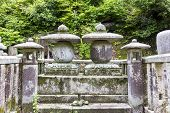 Fragment Of A Traditional Temple Graveyard In Kyoto, Japan