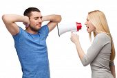 stock photo of conflict couple  - couple - JPG