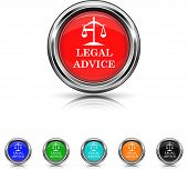 Legal Advice Icon - Six Colors Vector Set