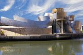 Guggenheim Bilbao Museum on the Nervion river