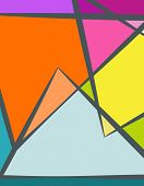 pic of octagon shape  - Colourfull Abstract Geometric Background Vector Illustration - JPG