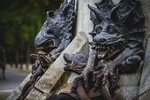 stock photo of gargoyles  - devil figure - JPG