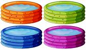 stock photo of kiddy  - Illustration of the kiddie pools on a white background - JPG