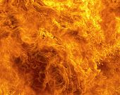 picture of flames  - Red blaze fire flame texture background heat - JPG