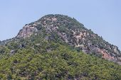 stock photo of dalyan  - A Hill in Dalyan Town Koycegiz Turkey - JPG