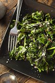 picture of sauteed  - Homemade Healthy Sauteed Swiss Chard with Garlic and Cheese - JPG