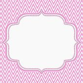 picture of chevron  - Pink and White Chevron Zigzag Frame Background with center for copy - JPG