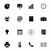 image of pry  - Collection of business and office related black flat icons - JPG