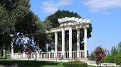 picture of crimea  - White terrace with columns in classical style in city park in the Crimea - JPG