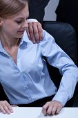 image of inappropriate  - First step to sexual harassment in the office - JPG