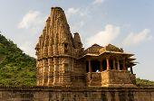 stock photo of krishna  - Ornate hindu temple dedicated to the god krishna  - JPG