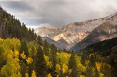 stock photo of colorado high country  - Rain storm in the high country mountains of Colorado - JPG