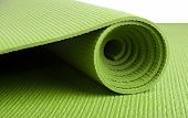 foto of yoga mat  - A green yoga - JPG