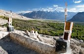 foto of jammu kashmir  - Nubra valley from roof of royal castle  - JPG