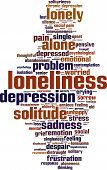 pic of loneliness  - Loneliness word cloud concept - JPG