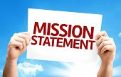stock photo of statements  - Mission Statement card with a beautiful day - JPG