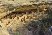 pic of winter palace  - Cliff Palace in Mesa Verde National Park Colorado in winter - JPG