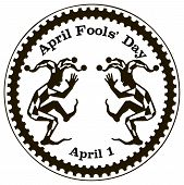 image of fool  - Imprint rubber stamp dedicated to the holiday April Fools - JPG