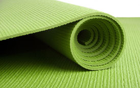 foto of yoga mat  - A green yoga - JPG