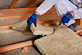 pic of thermal  - Installing thermal insulation layer  - JPG