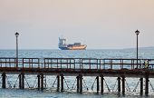 picture of lng  - Ship in Mediterranean sea near Cyprus coast - JPG
