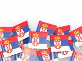 image of serbia  - Flag pin of serbia isolated on white - JPG