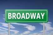 image of broadway  - broadway traffic sign - JPG
