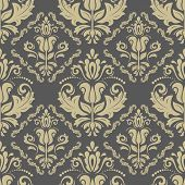 image of damask  - Oriental vector fine texture with damask - JPG