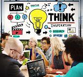 pic of motivation talk  - Think Inspiration Knowledge Solution Vision Innovation Concept - JPG
