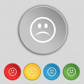 picture of sad  - Sad face Sadness depression icon sign - JPG