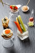 stock photo of canapes  - tasty canape - JPG