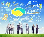 picture of loyalty  - Customer Loyalty Service Support Care Trust Business Concept - JPG