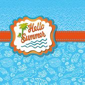 picture of shell-fishes  - Summer design template - JPG
